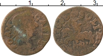 Изображение Монеты Польша 1 боратинка 1666 Медь VF Ян Казимир