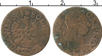 Изображение Монеты Польша 1 боратинка 1661 Медь VF Ян Казимир