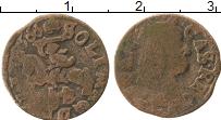 Изображение Монеты Польша 1 боратинка 1666 Медь VF Ян Казимир.