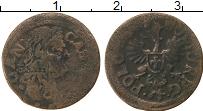 Изображение Монеты Польша 1 боратинка 1664 Медь VF+ Ян Казимир