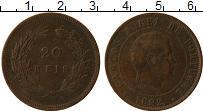 Изображение Монеты Португалия 20 рейс 1892 Бронза VF Карлос I