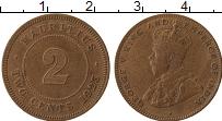 Изображение Монеты Маврикий 2 цента 1923 Бронза XF-