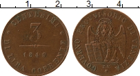 Продать Монеты Венеция 3 чентезимо 1849 Медь