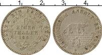 Изображение Монеты Германия Анхальт-Бернбург 1/6 талера 1862 Серебро XF