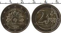 Изображение Мелочь Латвия 2 евро 2019 Биметалл UNC