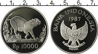 Продать Монеты Индонезия 10000 рупий 1987 Серебро