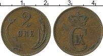 Изображение Монеты Дания 2 эре 1894 Медь XF