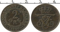 Изображение Монеты Швеция 2 эре 1909 Бронза XF- Густав V