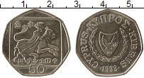 Изображение Монеты Кипр 50 центов 1993 Медно-никель UNC-