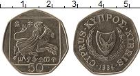 Изображение Монеты Кипр 50 центов 1994 Медно-никель UNC-
