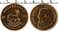 Изображение Монеты ЮАР 1 крюгерранд 1979 Золото UNC- КМ# 73 Проба 917. 33
