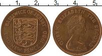 Изображение Монеты Остров Джерси 2 пенса 1980 Бронза XF Елизавета II