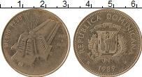 Продать Монеты Доминиканская республика 1/2 песо 1989 Медно-никель