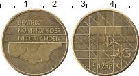Изображение Монеты Нидерланды 5 гульденов 1988 Латунь XF Биатрикс