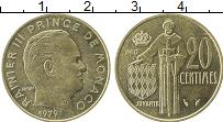 Изображение Монеты Монако 20 сентим 1979 Латунь UNC-