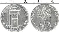 Изображение Монеты Ватикан 1 лира 1950 Алюминий UNC- Пий XII