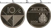 Изображение Монеты Нидерланды Аруба 10 центов 2006 Медно-никель UNC