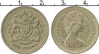 Изображение Монеты Великобритания 1 фунт 1983 Латунь VF