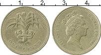 Изображение Монеты Великобритания 1 фунт 1985 Латунь XF- Елизавета II