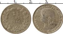 Изображение Монеты Нидерланды 25 центов 1894 Серебро XF Вильгельмина