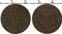 Изображение Монеты Франция Французская Гвиана 2 су 1789 Медь VF