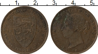 Изображение Монеты Остров Джерси 1/24 шиллинга 1894 Бронза XF