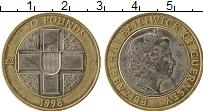 Изображение Монеты Гернси 2 фунта 1998 Биметалл XF Елизавета II
