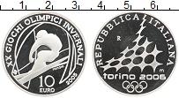 Изображение Монеты Италия 10 евро 2005 Серебро Proof- Олимпиада в Турине