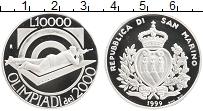 Изображение Монеты Сан-Марино 10000 лир 1999 Серебро Proof- Олимпийские игры, ст