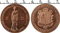 Изображение Монеты Андорра 5 динерс 1986 Медь UNC