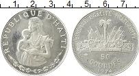 Изображение Монеты Гаити 50 гурдес 1974 Серебро Proof-