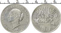Изображение Монеты Гаити 50 гурдес 1981 Серебро UNC- ФАО