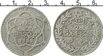 Изображение Монеты Марокко 1/2 риала 1911 Серебро XF