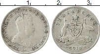 Изображение Монеты Австралия 3 пенса 1910 Серебро VF Эдуард VII