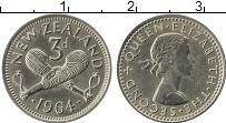 Изображение Монеты Новая Зеландия 3 пенса 1964 Медно-никель XF