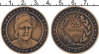 Продать Монеты Турция 2 1/2 лиры 2019 Бронза