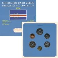 Изображение Подарочные монеты Кабо-Верде Набор 1994 года, Птицы 1994  UNC