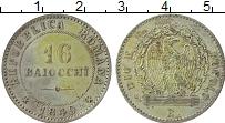 Изображение Монеты Италия 16 байоччи 1849 Серебро XF Вторая Римская Респу
