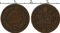 Изображение Монеты Ватикан 1 кватрино 1840 Медь XF Григорий XVI, Папско