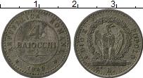 Изображение Монеты Европа Италия 4 байоччи 1849 Серебро VF