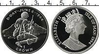 Изображение Монеты Остров Мэн 1 крона 1994 Серебро Proof Вторая Мировая Война