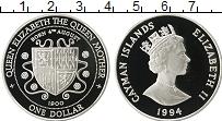 Изображение Монеты Каймановы острова 1 доллар 1994 Серебро Proof- Елизавета II