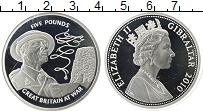 Изображение Монеты Гибралтар 5 фунтов 2010 Серебро Proof- Вторая Мировая Война
