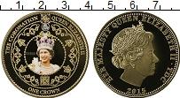 Продать Монеты Тристан-да-Кунья 1 крона 2015 Позолота