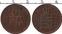 Изображение Монеты Саксе-Мейнинген 2 пфеннига 1841 Медь VF G