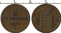 Продать Монеты Саксе-Мейнинген 2 пфеннига 1859 Медь