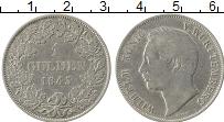 Изображение Монеты Вюртемберг 1 гульден 1843 Серебро XF Вильгельм