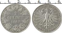 Изображение Монеты Франкфурт 1 гульден 1844 Серебро XF