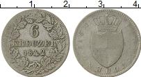 Изображение Монеты Германия Гогенцоллерн-Зигмаринген 6 крейцеров 1842 Серебро VF