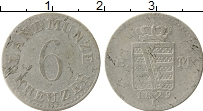 Изображение Монеты Саксен-Майнинген 6 крейцеров 1829 Серебро VF